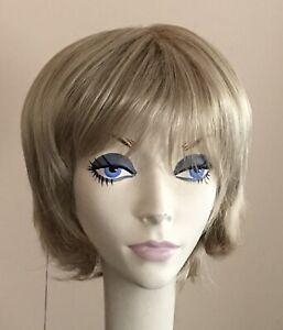 NWT! JACQUELYN Wig HUMAN HAIR Blend BONNIE 16A Beige BLONDE • Monofilament Top