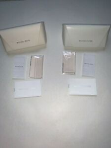 Authentic Michael Kors Glasses Case with Cleaning Cloth White