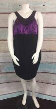 Torrid Black Purple Beaded Empire Waist Sheath  Dress Size 24