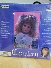 """Vinyl And Cloth 22 inch Doll Kit """" Charleen """" Glastic Realistic Eyes New Dyi"""