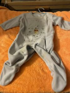 Winnie the Pooh babygrow colour blue size 3to6 months