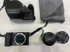 Sony Alpha a6000 24.3MP Digital SLR Camera with 16-50mm and 18-55mm lenses
