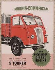 MORRIS 5 TON TRUCK (FVSO 12/5) Sales Brochure July 1953 #H5367