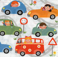 4 Motivservietten Papierservietten Servietten Napkins Tovaglioli  Autos (903)