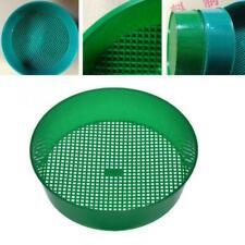Green Plastic Garden Sieve Riddle Sifter For Compost Gravel Stone Soil V4S2