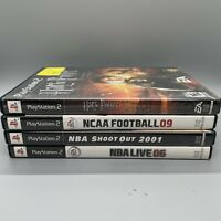 Lot of 4 PS2 Games - Harry Potter Goblet Fire, NBA 2001, 2006, NCAA Football 09