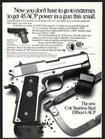 1987 COLT Officer's Officers .45 ACP Pistol AD Gun Handgun Advertising