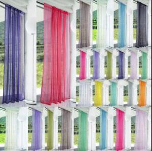 1Pair (2Panels) Top Floral Tulle Voile Door Window Curtain Drape Panel-Net&Voile