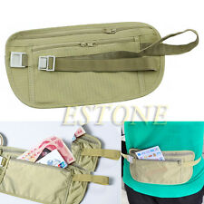 Travel Pouch Hidden Wallet Passport Money Waist Belt Bag Slim Secret Security