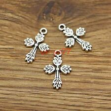 20pcs Cross Charms Religious Charms Antique Silver Tone 26x16mm 0093