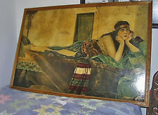 Incredible c1925 Life-Size OOB Theda Bara Cleopatra Reclining Hans Meyer-Kassel