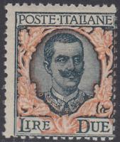 Italy Regno - Floreale 2 Lire - Sass. n.150 - cv 90$ MNH**