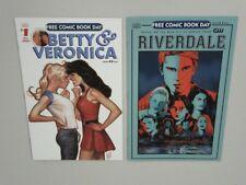 Betty & Veronica + Riverdale UNSTAMPED FCBDs! NM 1st Prints in Mylar! 9 HD pix!