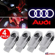 4pcs LED Logo for Audi A8 A6 A4 Q7 Door Courtesy Light Shadow Laser Projector US