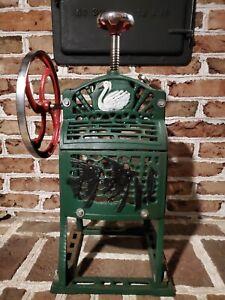 Vintage Swan Cast Iron Shaved Block Ice Machine shaver
