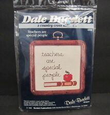Dale Burdett ck68 Cross Stitch Kit Teachers Are Special People 1985 Mini Frame