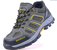 Men's Work Safety Breathable Steel Toe Shoes Wearproof Work Hiking Boots E661