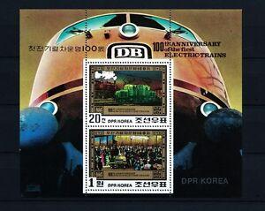 Korea 1980 S/S Souvenir Sheet Railway Train Michel Block 87 MNH OG VF