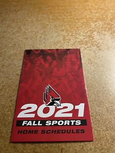 Ball State University 2021 Fall Sports Pocket Schedule