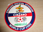 ADESIVO STICKER MONDIALI MEXICO 86 CINZANO PIQUE OFFICIAL SPONSOR WORLD CUP 1986