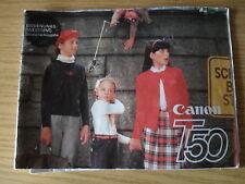CANON T 50 BedienungsanleitungBDA  Anleitung,  deutsch