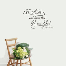 Be Still and Know that I am God Psalm 46:10 Wall Decal Bible Vinyl lettering