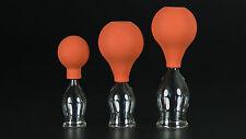 3er Schröpfset 20-40mm m. Ball,Schröpfglas,Schröpfgläser Original Lauschaer Glas