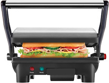 Indoor Griddler Panini Press Sandwich Maker Grill Electric Stainless Steel