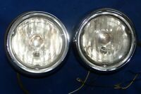 1954 Cadillac Fog Lamp Assembly Right and Left Pair, Vintage Early Take-offs