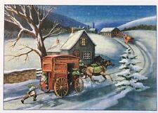 J. R. Watkins Vintage Christmas Holiday Cards Horse Santa Elves  NOS 25/Box