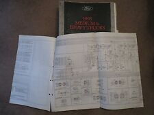 1995 FORD CARGO TRUCKS OVERSIZED FACTORY WIRING DIAGRAMS SCHEMATICS SHEET SET