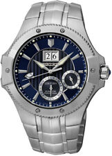Seiko SNP069 Coutura Kinetic Perpetual Analog Mens Watch Stainless Steel New