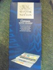 Windsor and Newton Cotman Water Colours Studio Set 24 Whole Pans New