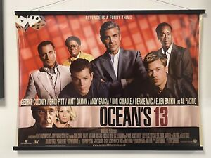Oceans 3, Double Sided Original UK Quad Sheet Movie Poster
