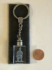 NEW Terra Cotta Army Warrior KEY RING Lucite 3D Laser Led Light Up Keychain NIB