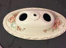 Vintage Ceramic Hand Painted Double Socket Light Fixture Cover flush mount