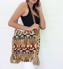 Antik Batik Women's Textured Micha Cabers Brown Leather Shoulder Tote Bag