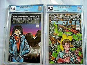 TEENAGE MUTANT NINJA TURTLES #11 CGC 8.0 VF + #12 CGC 9.2 NM- White Pages 1987