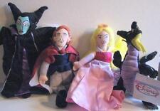 Lot of 4 Disney Bean Bag/Maleficent/Princess Aurora/Prince Phillip/Dragon/NWT