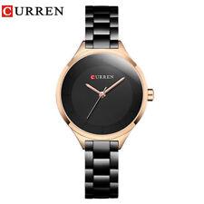 CURREN Gold Watch Girls Wristwatches Ladies Steel Women's Bracelet Watches i