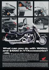 2003 Honda VTX 1800 Motorcycles - July - Classic Vintage Advertisement Ad D93