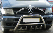 MERCEDES VITO W638 BULL BAR CHROME AXLE NUDGE A-BAR 60mm 1996-2003 ON OFFER NEW