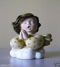BUSTO ANGIOLETTO SU NUVOLA AL VENTO in polvere di alabastro (Marmo) 6,50 cm