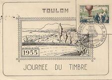 CP JOURNEE DU TIMBRE 1955 LA CORNICHE DU FARON