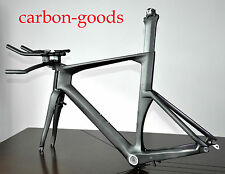 50cm BSA Carbon Time Trial TT Track Bike Frame Fork Aero Handlebars DI2 System