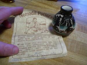 Vintage  Nemadji Art Pottery Vase