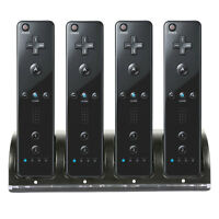 2/4 Charging Charger Dock Station+2/4 Battery For Nintendo Wii Remote Controller