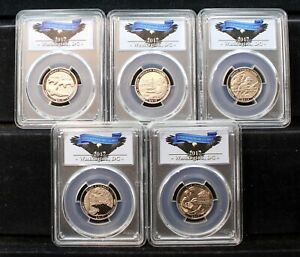 2017 S 10 Piece Enhanced Finish Uncirculated Set - PCGS SP69 1st Day of Issue !!
