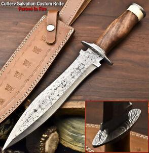 Rare!!! Beautiful Handmade Damascus Steel Dagger Knife | WALNUT WOOD
