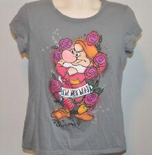 Disney I'm not Mad Just Grumpy Junior Size XXL Tshirt Top Dwarf Dwarves EUC